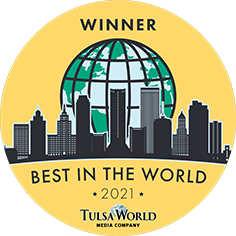 Tulsa Embroidery 918DesignCompany Best In World Button